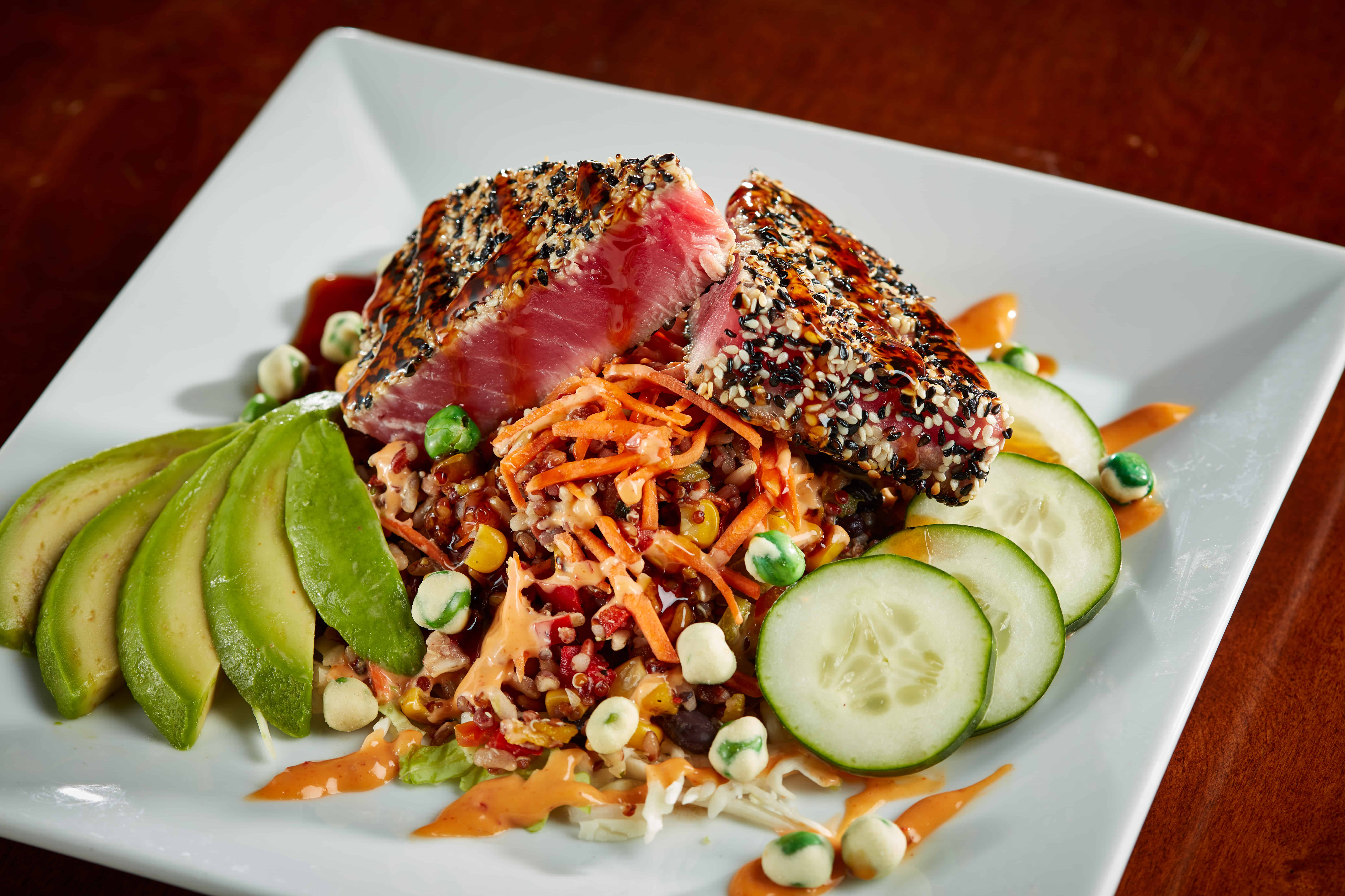 Ahi Tuna Bowl Bonus 6 - Sesame Crusted Ahi Tuna Salad