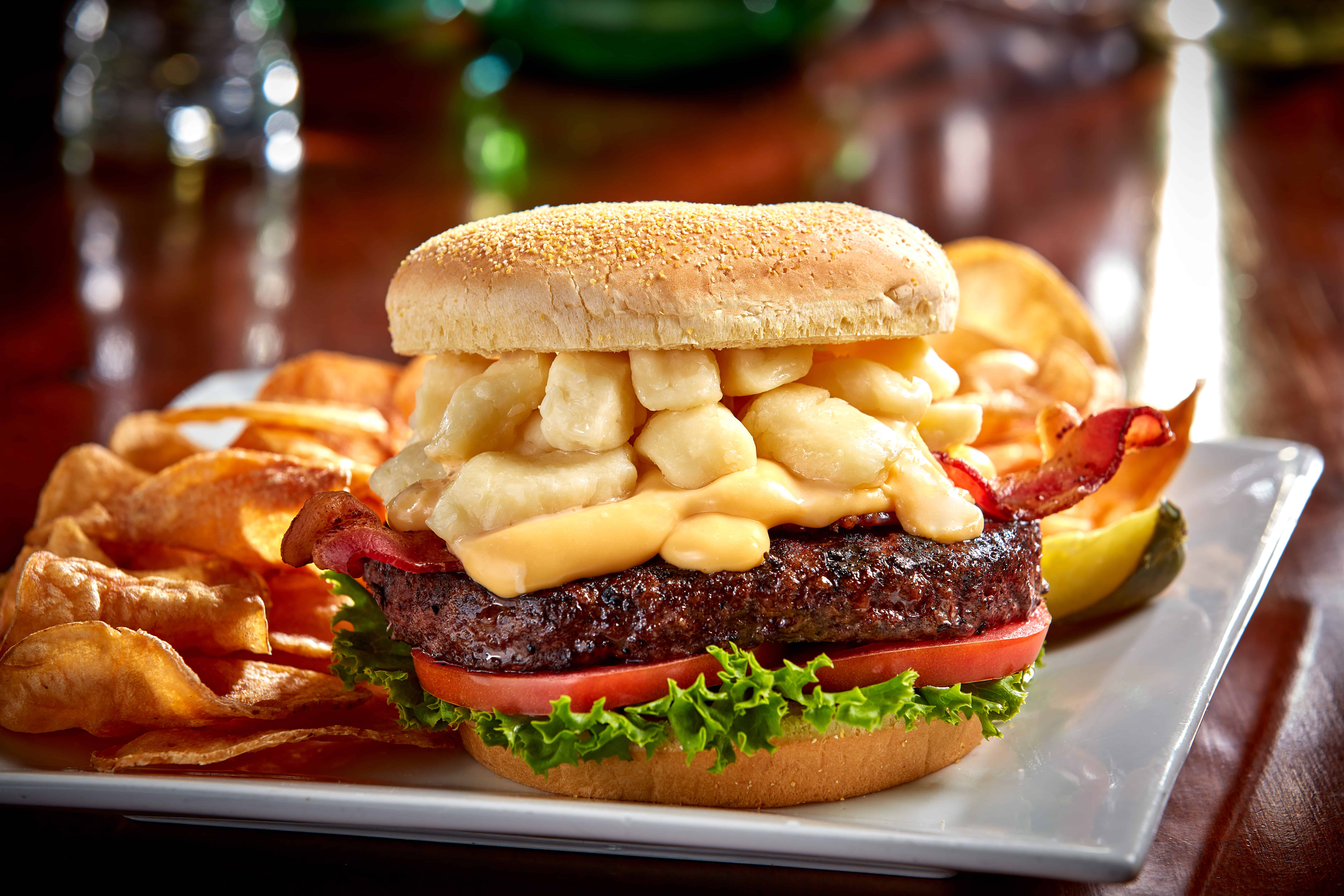 Spotted Cow Cheese Curd Burger - Double Stacked Patty Melt